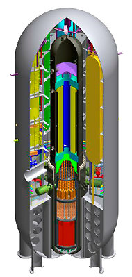 A rendering of the Westinghouse small modular reactor.