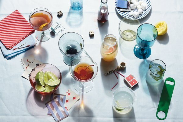 It's 5 O'Clock Somewhere: Yunhee Kim. Drink stylist: Brian Preston-Campbell. Prop stylist: Theo Vamvounakis.