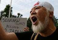 A large anti-China rally took place Sunday in central Tokyo.