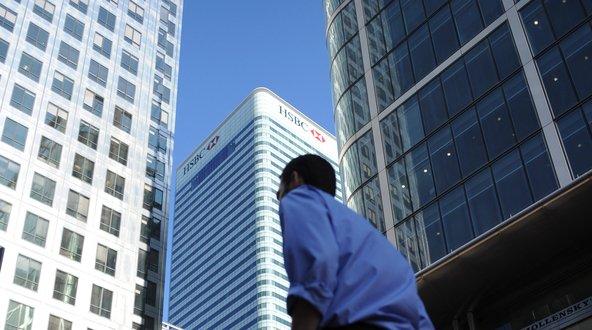 HSBC's headquarters in London.