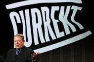 Al Gore, a co-founder of Current TV, which will be shut down by the Qatar-based news organization Al Jazeera.