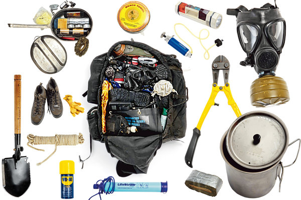 The contents of a bag packed by Aton Edwards.