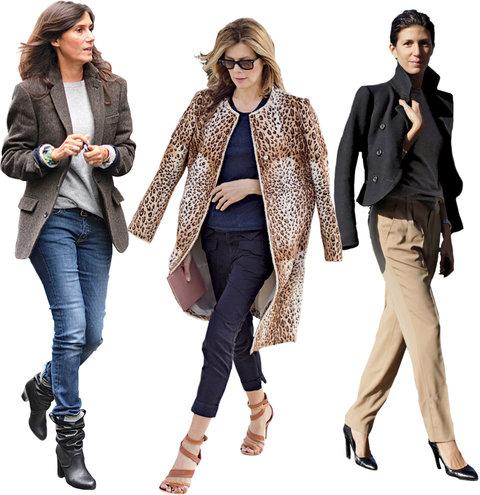 From left: Vogue Paris's Emmanuelle Alt; French Vanity Fair's Virginie Mouzat; Interview's Ludivine Poiblanc.