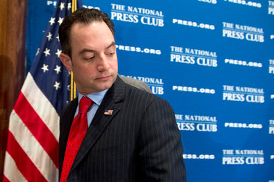 """Reince Priebus, chairman of the Republican National Committee, spoke Monday at the National Press Club in Washington. """"There's no one reason we lost"""" in 2012, he said. """"Our message was weak."""""""