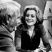 Barbara Walters and Harry Reasoner after her debut as the nation's first female anchorwoman.