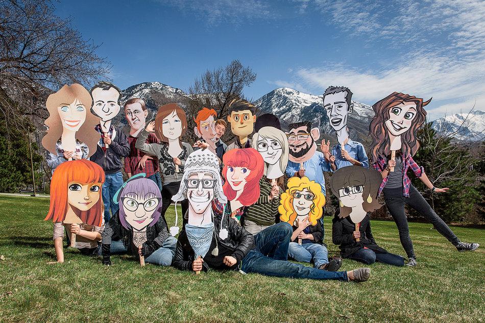 할리우드의 유수 애니메이션 스튜디오들로부터 러브콜을 받고 있는 브리검영 대학교 학생들. (사진 Micheal Friberg)