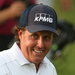 Phil Mickelson at the 18th hole, where not even a bogey - his third of the day - could spoil his mood.