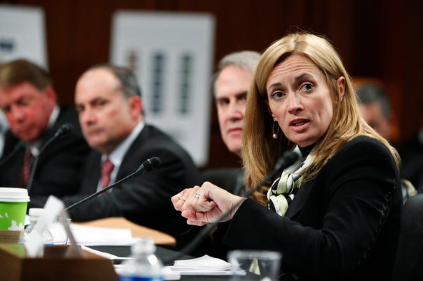 Blythe Masters of JPMorgan. Regulators initially said she lied to them under oath about the bank's energy trading tactics.