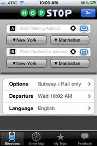 Hopstop's iPhone app.