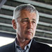 Chuck Hagel, the defense secretary, listened as a paratrooper talked about his gear at Fort Bragg, N.C., on Monday.