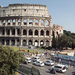 Via dei Fori Imperiali is a wide, busy artery that passes the Colosseum.