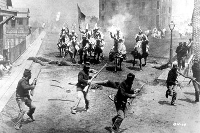 """D.W. Griffith's """"Birth of a Nation"""" filmed in 1914."""