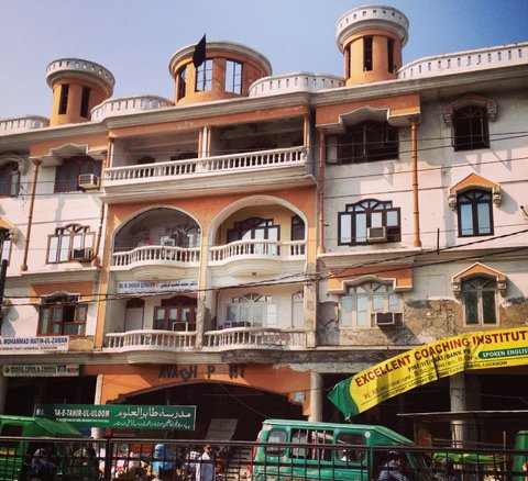 A view of Awadh Point, a three story building in Old Lucknow, Uttar Pradesh, on Nov. 9.