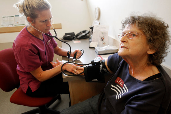 New guidelines suggest that people over age 60 can have a higher blood pressure than previously recommended before starting treatment to lower it.
