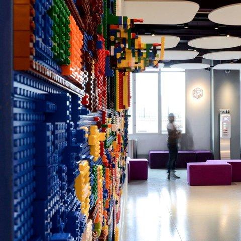 LEGO wall at Yotel