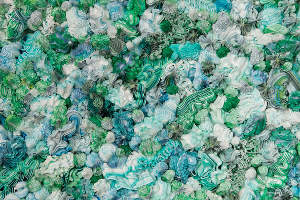 A painting by the artist Xu Zhen, whose works were co-opted for the graphic identity of this year's Armory Show.