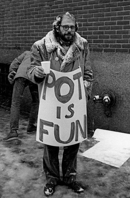 Allen Ginsberg at the Women's House of Detention. New York. March 1964.