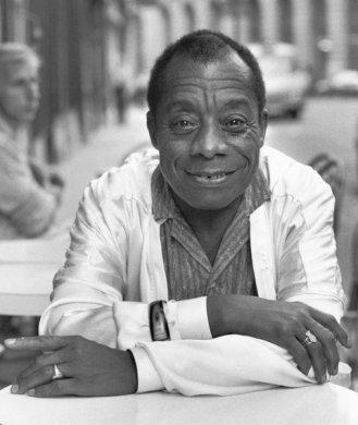 James Baldwin in Paris in 1986.
