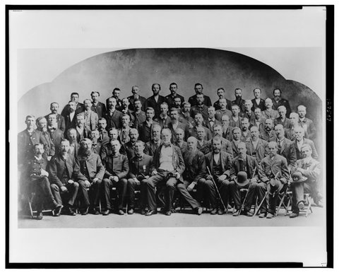 Civil War veterans in 1884, with William T. Sherman in the front row center