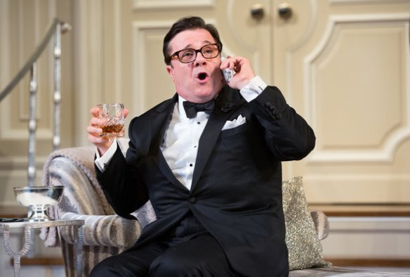 "Nathan Lane in ""It's Only a Play."""