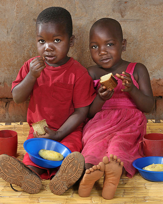 <p>Phillip Kamtengo, 4 years old, and</p> <p>Shelleen Kamtengo, 4 years old, Chitedze, Malawi</p>