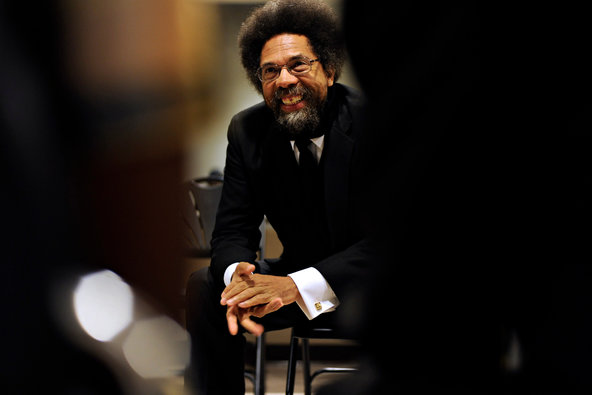 Cornel West spoke at the Tidewater Community College's Roper Center in Norfolk, Va., as part of its Words of Wisdom series in 2011.