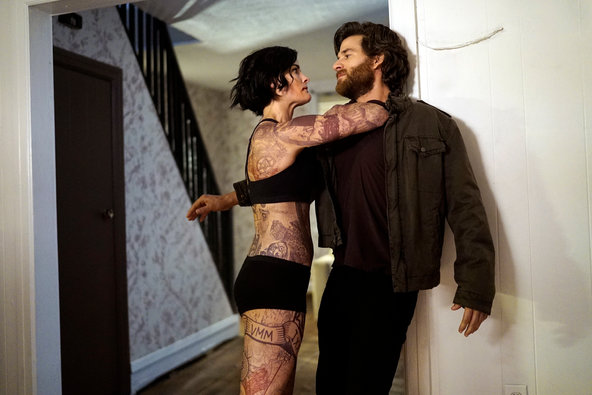 "Jaimie Alexander and Johnny Whitworth in ""Blindspot."""
