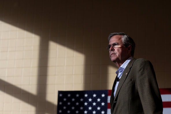 Jeb Bush at a campaign stop in Dubuque, Iowa, on Tuesday.