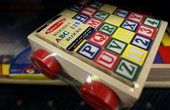 Basic toys without sounds or lights, like blocks, may be best for a child's development.