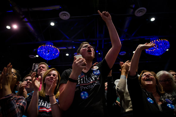Supporters of Hillary Clinton at a campaign event at the Fillmore in Philadelphia on Thursday night..