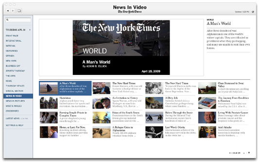 Times Reader 2.0 News in Video