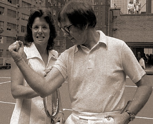 Billie Jean King & Bobby Riggs /photo from nytimes.com