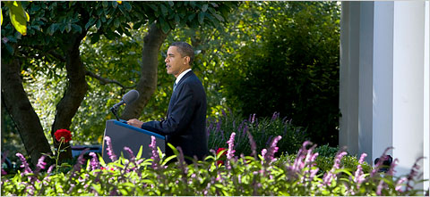 President Obama reacted to receiving the Nobel Peace Prize in the White House Rose Garden on Friday morning.