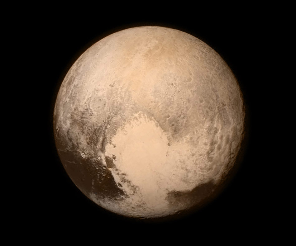 Pluto seen by the New Horizons spacecraft on July 13