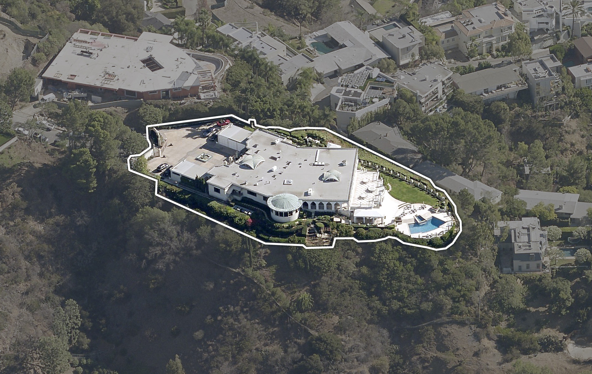 Mark Wahlberg House Aerial View