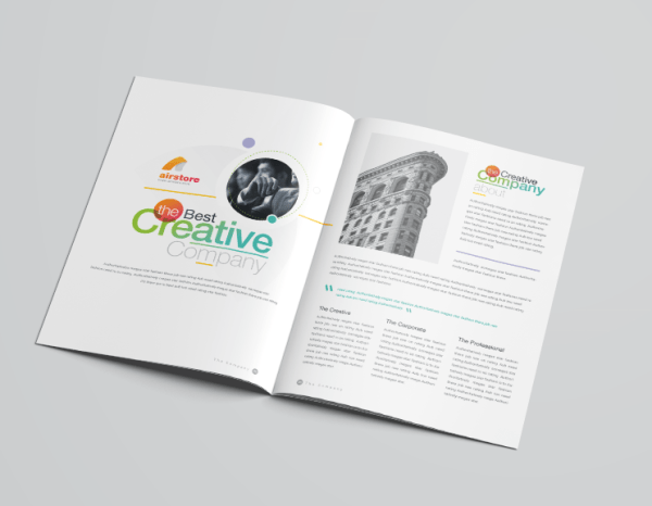 16 Pages Rainbow Professional Corporate Brochure Template