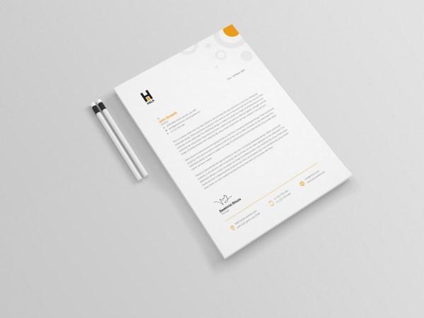Achelous Professional Corporate Letterhead Template
