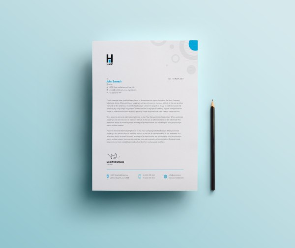 Achelous Professional Corporate Letterhead Template