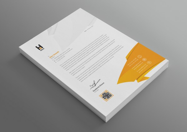 Aether Professional Corporate Letterhead Template