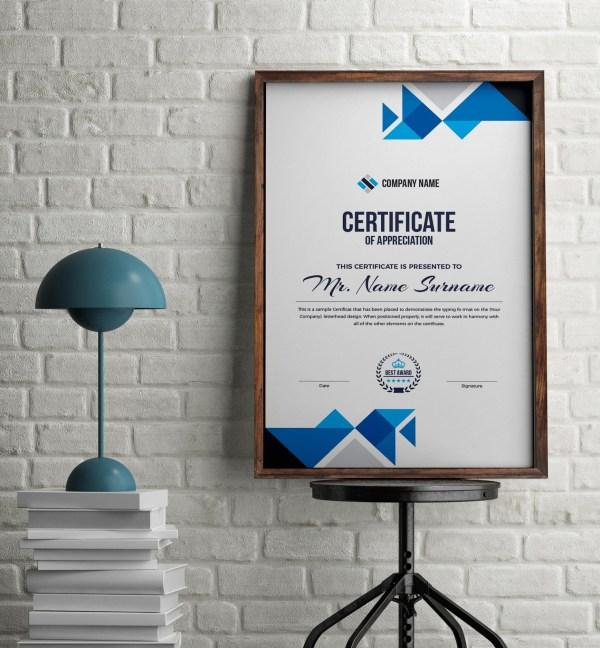 Angel Professional Portrait Certificate Template
