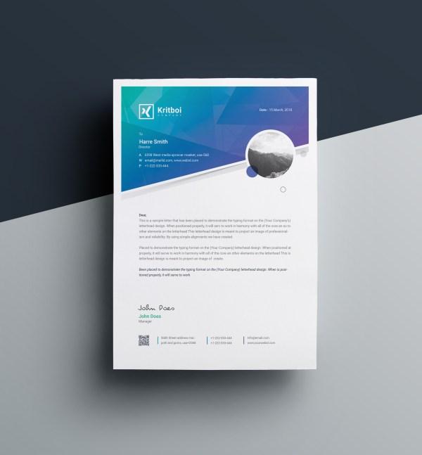 Aristaeus Professional Corporate Letterhead Template