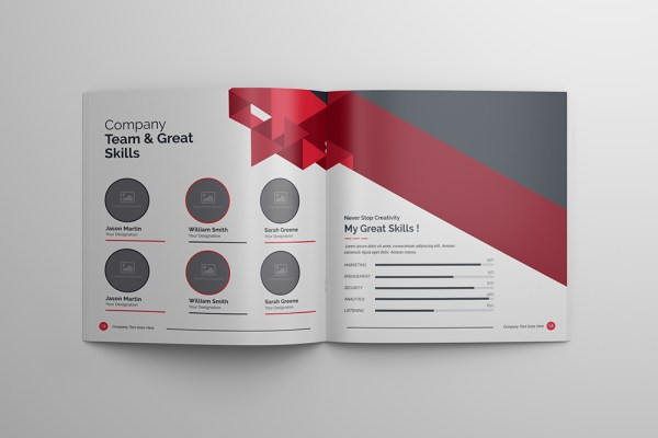 Athena Professional 24 Pages Square Magazine Template