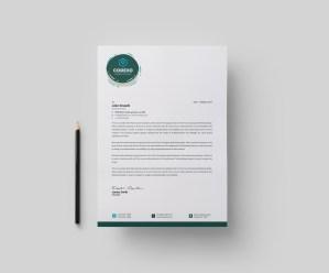 Athena Stylish Corporate Letterhead Template