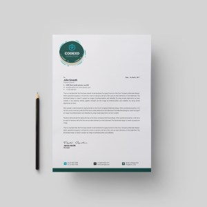 Athena Stylish Corporate Letterhead Template