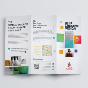 Best Creative Corporate Tri-Fold Brochure Template