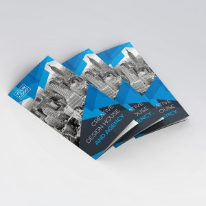 Bleu Stylish Tri-Fold Brochure Template