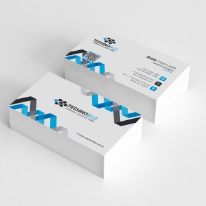 Chevron Elegant Corporate Business Card Template