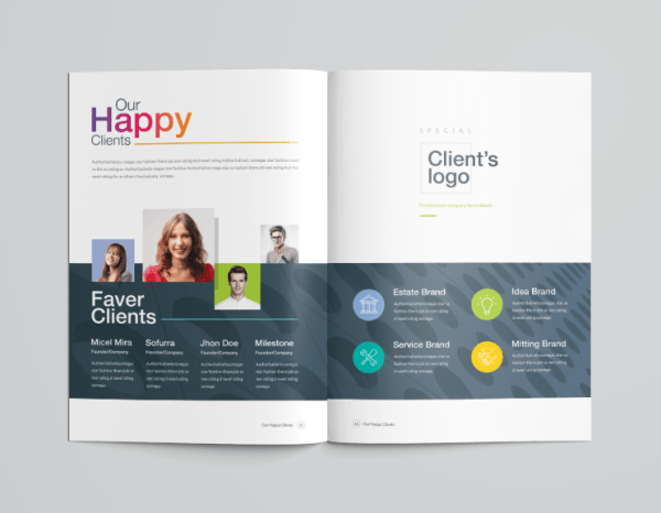 16 Pages Clean Professional Corporate Brochure Template