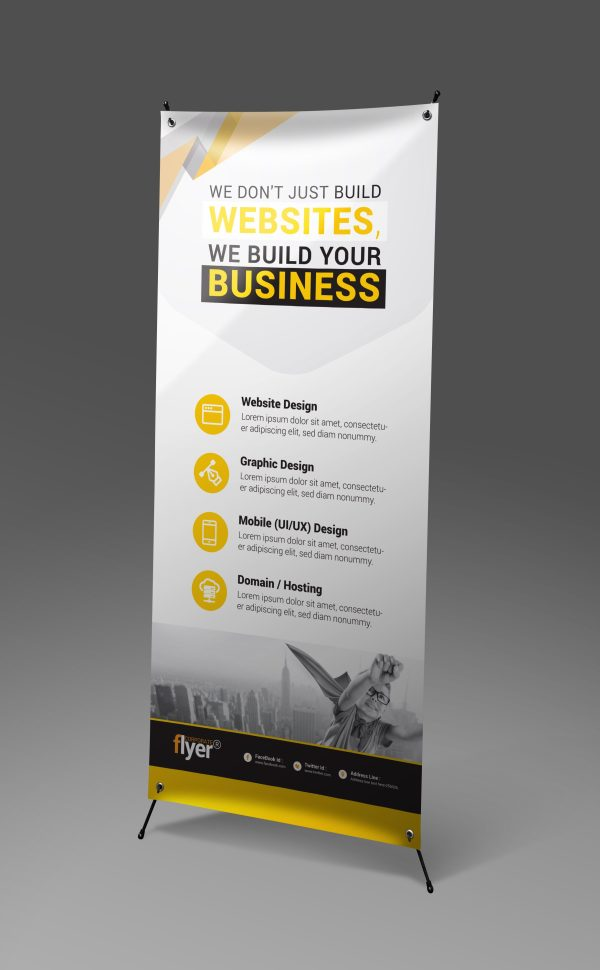 Construction Roll-Up Banner Design Template 2