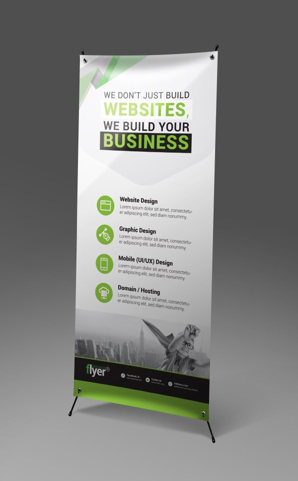 Construction Roll-Up Banner Design Template 5
